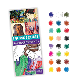 Mudpuppy I Heart Museums 24 Colored Pencils