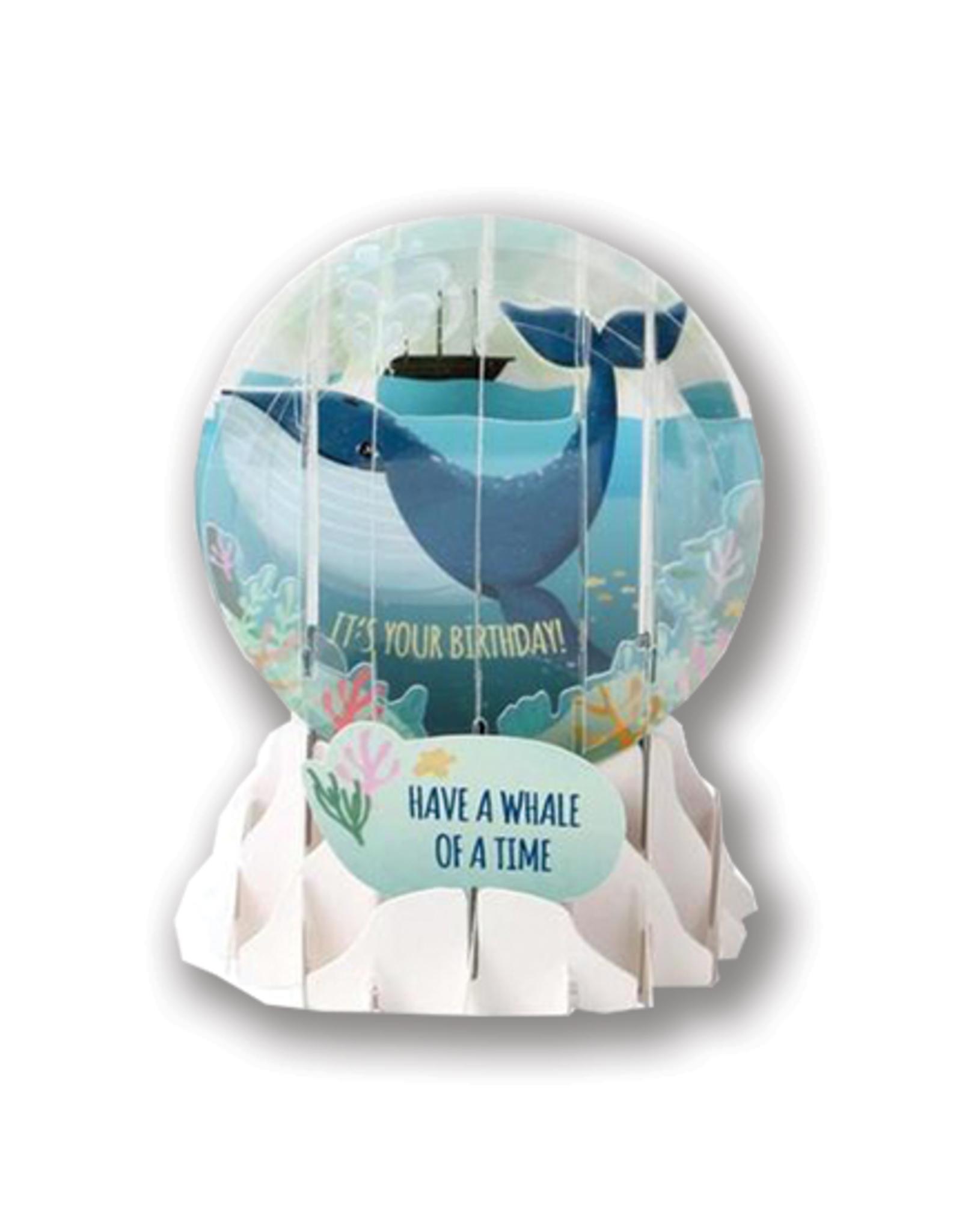 "Whale Birthday Pop-Up ""Snow Globe"" Card"