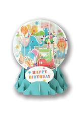 "Birthday Bumper Cars Pop-Up ""Snow Globe"" Card"