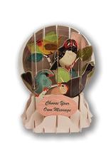 "Birch Tree Birds Pop-Up ""Snow Globe"" Card"