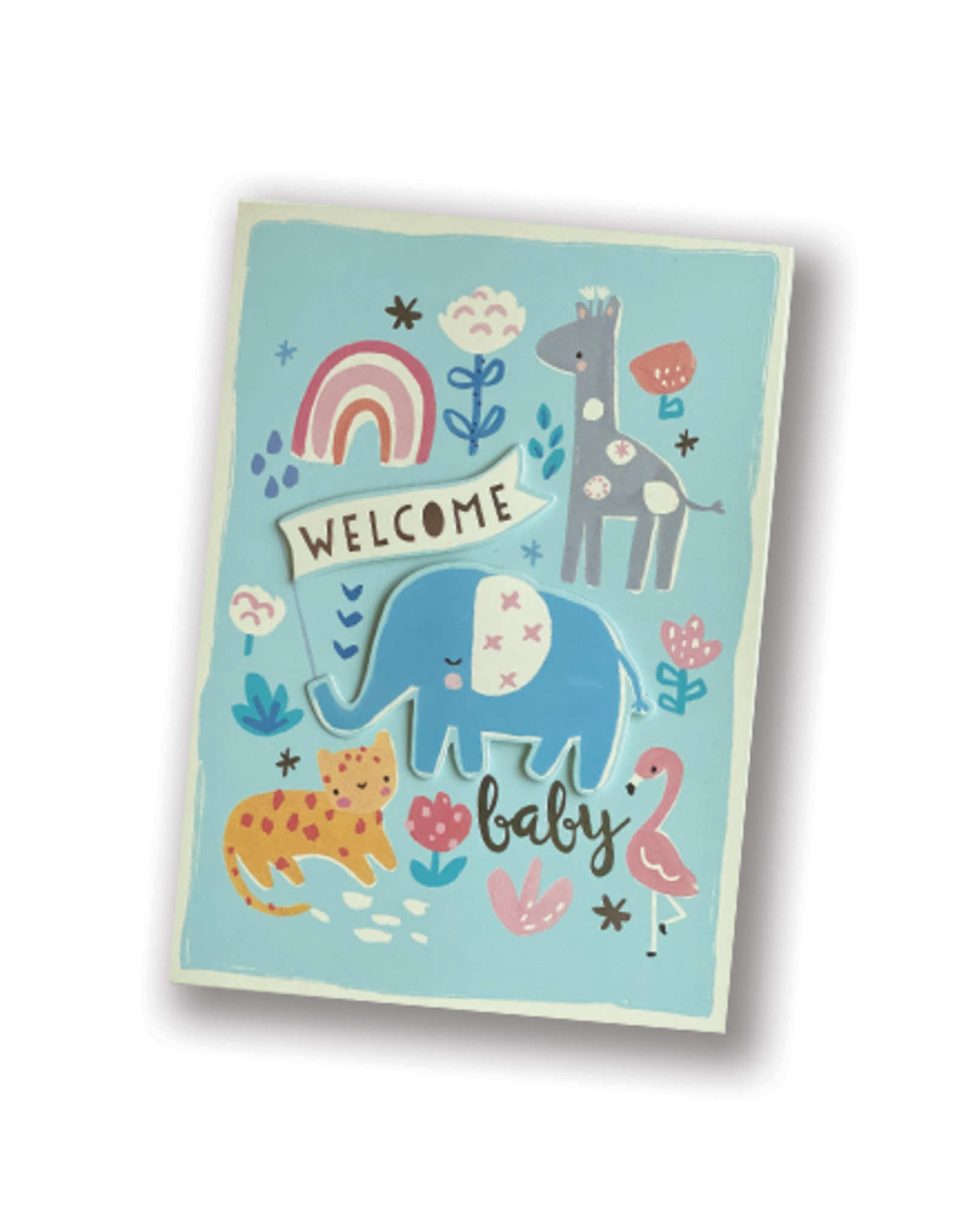 Welcome Baby Elephant Card