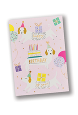 """""""Happy Birthday to You"""" Pink Dog Card"""
