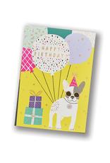 """""""Happy Birthday"""" Frenchie Dog Card"""