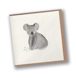 Koala Watercolor Blank Card (single card)