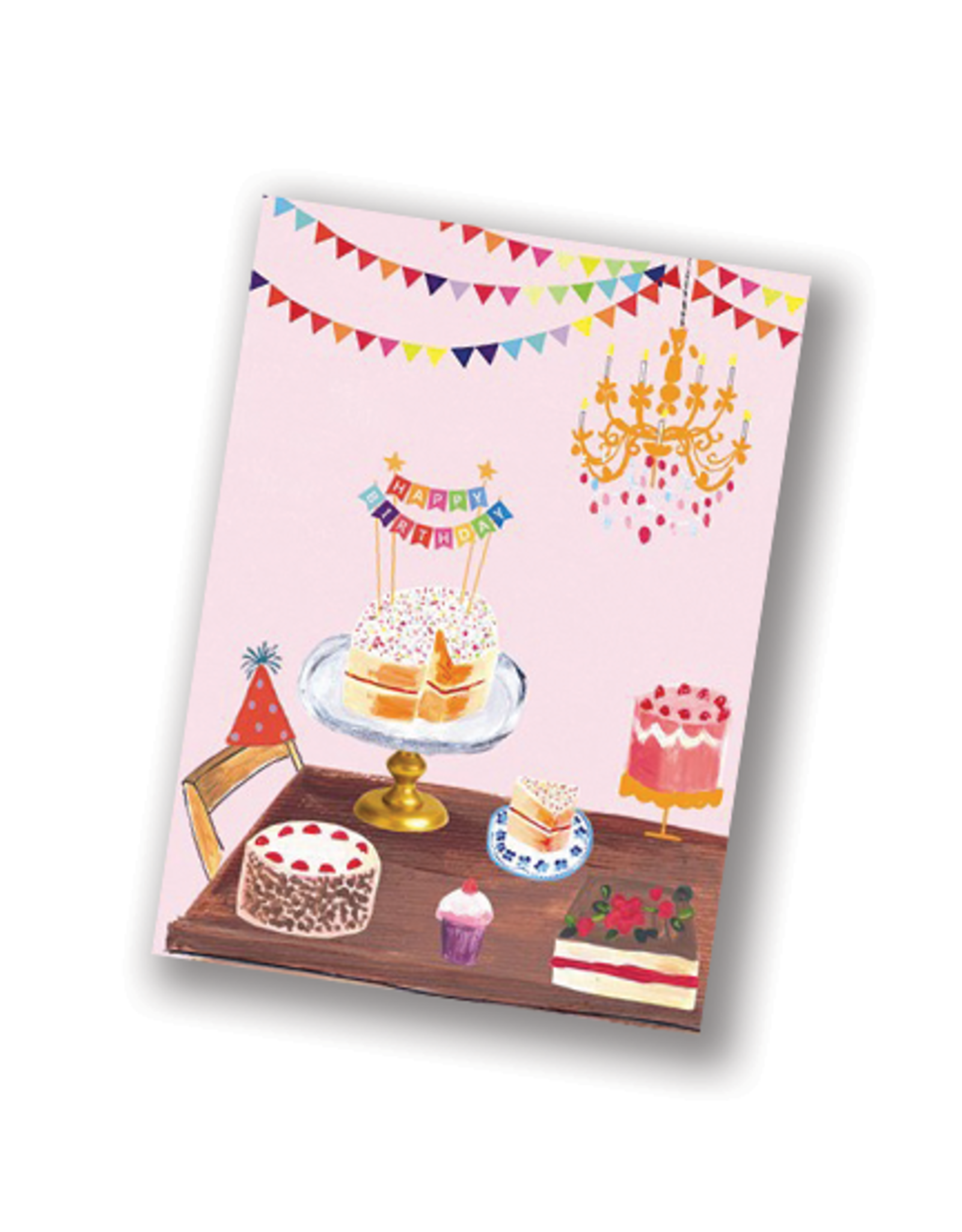 """Happy Birthday"" Pink Desserts Card"