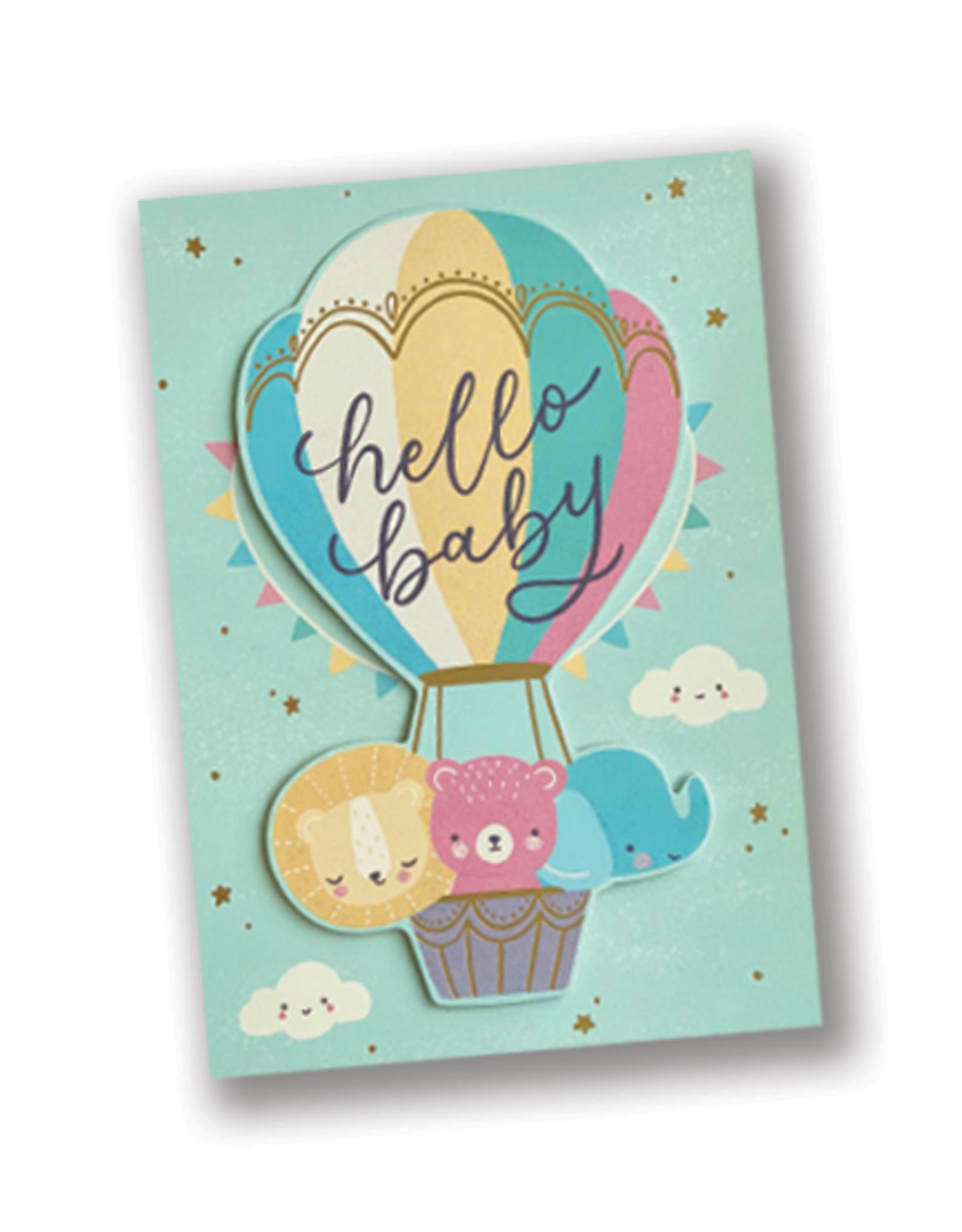 Hello Baby Hot Air Balloon Card