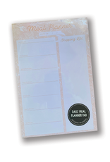 Floral Pink Daily Meal Planner Notepad