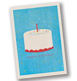 """Happy Birthday"" Cake Letterpress Card"