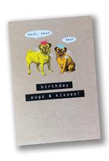 """""""Birthday Pugs & Kisses"""" Card"""