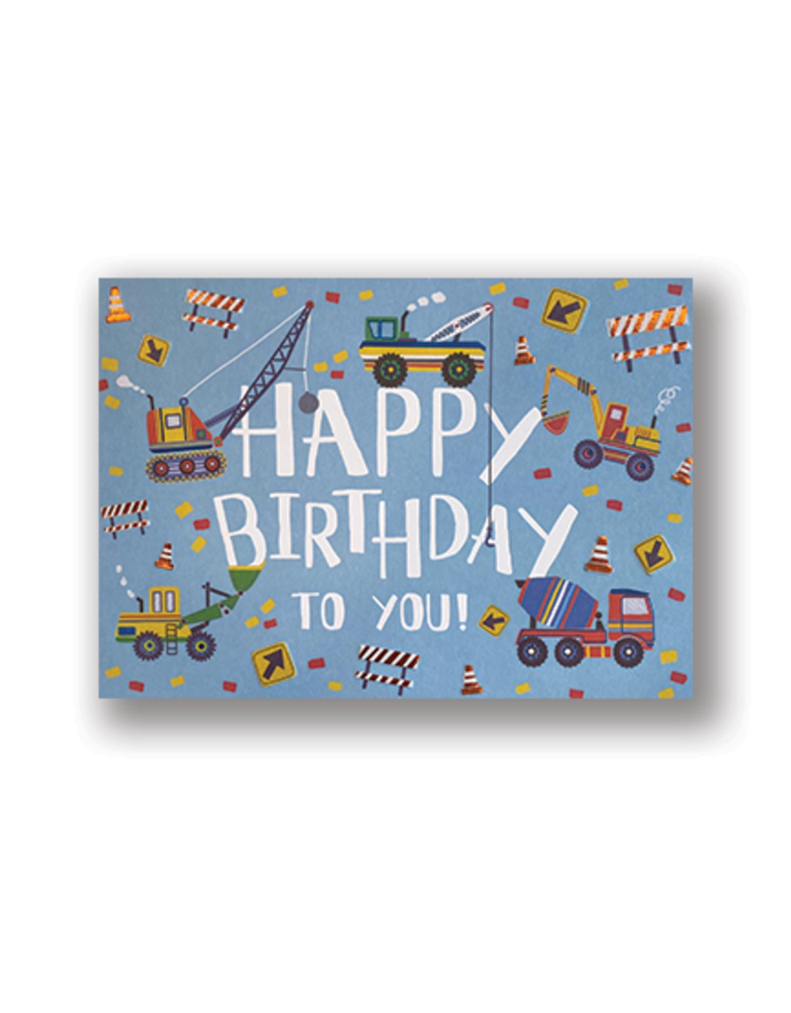 Happy Birthday! Construction Trucks Card