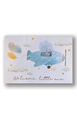 """""""Welcome Little One"""" Elephant Card"""