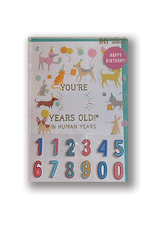 """DIY """"Happy Birthday"""" Card with Stickers"""