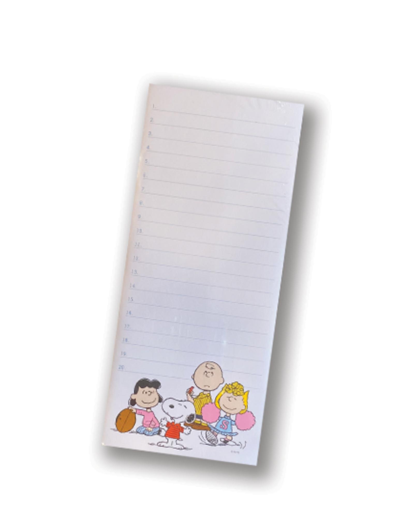 Peanuts Football Gang Tall Magnetic Notepad