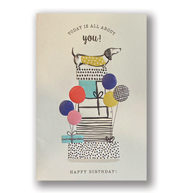 """""""Today is All About You"""" Birthday Card"""