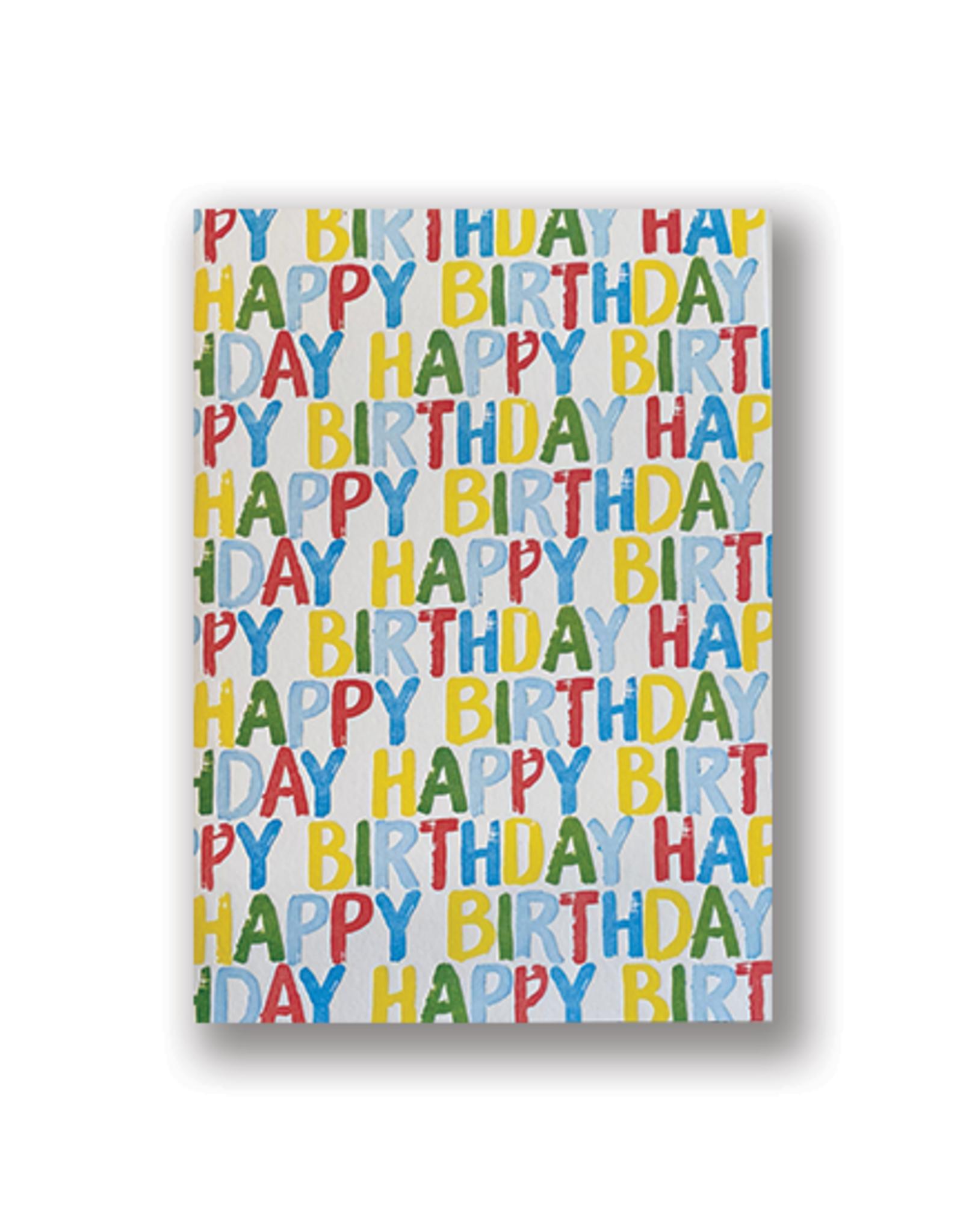 """Happy Birthday"" Letterpress Word Card"