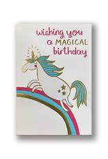 """Wishing You A Magical Birthday"" Unicorn Card"