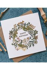 """Happy Birthday"" Floral Card"