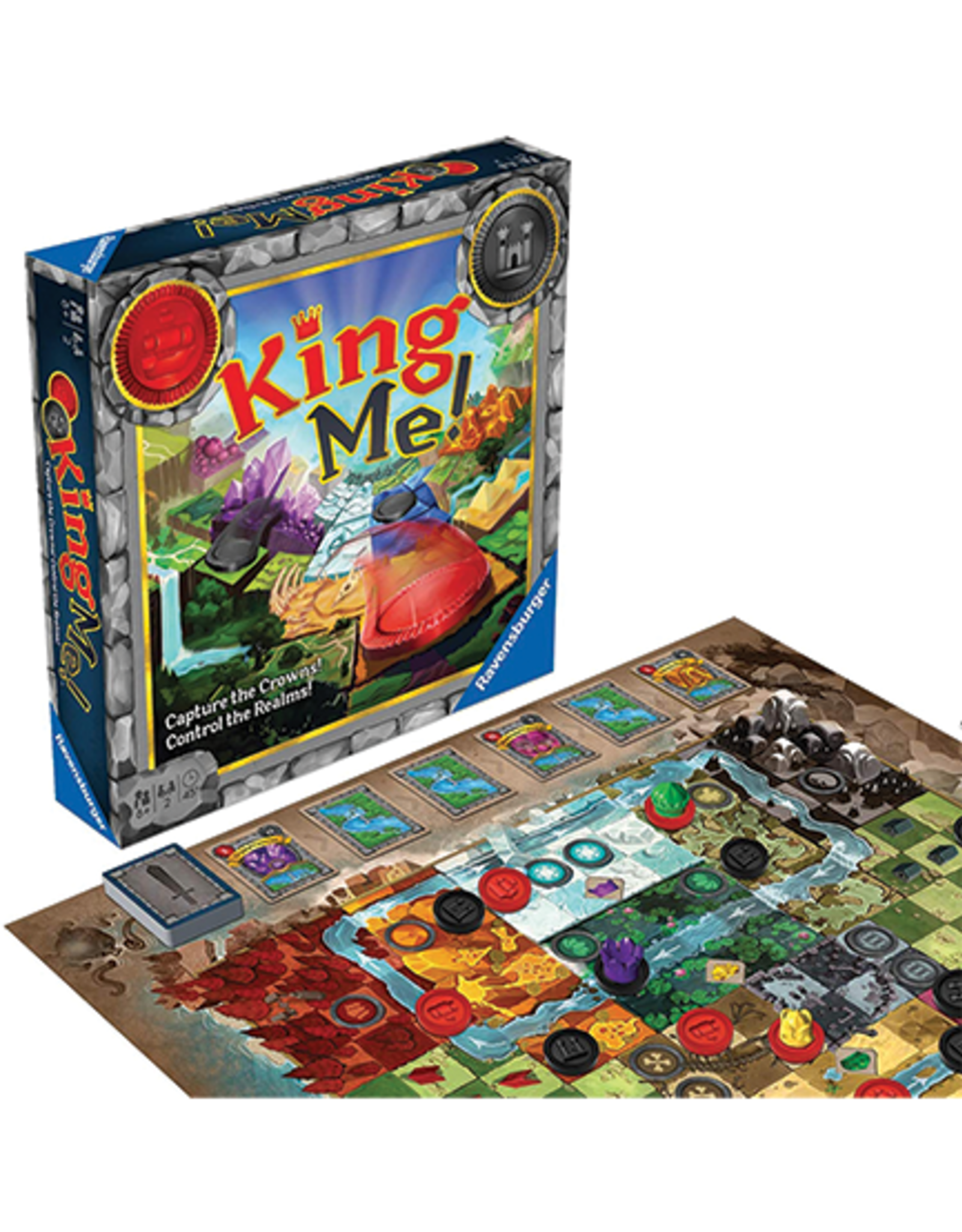 Ravensburger King Me Game:  Fantastical Take On Classic Checkers