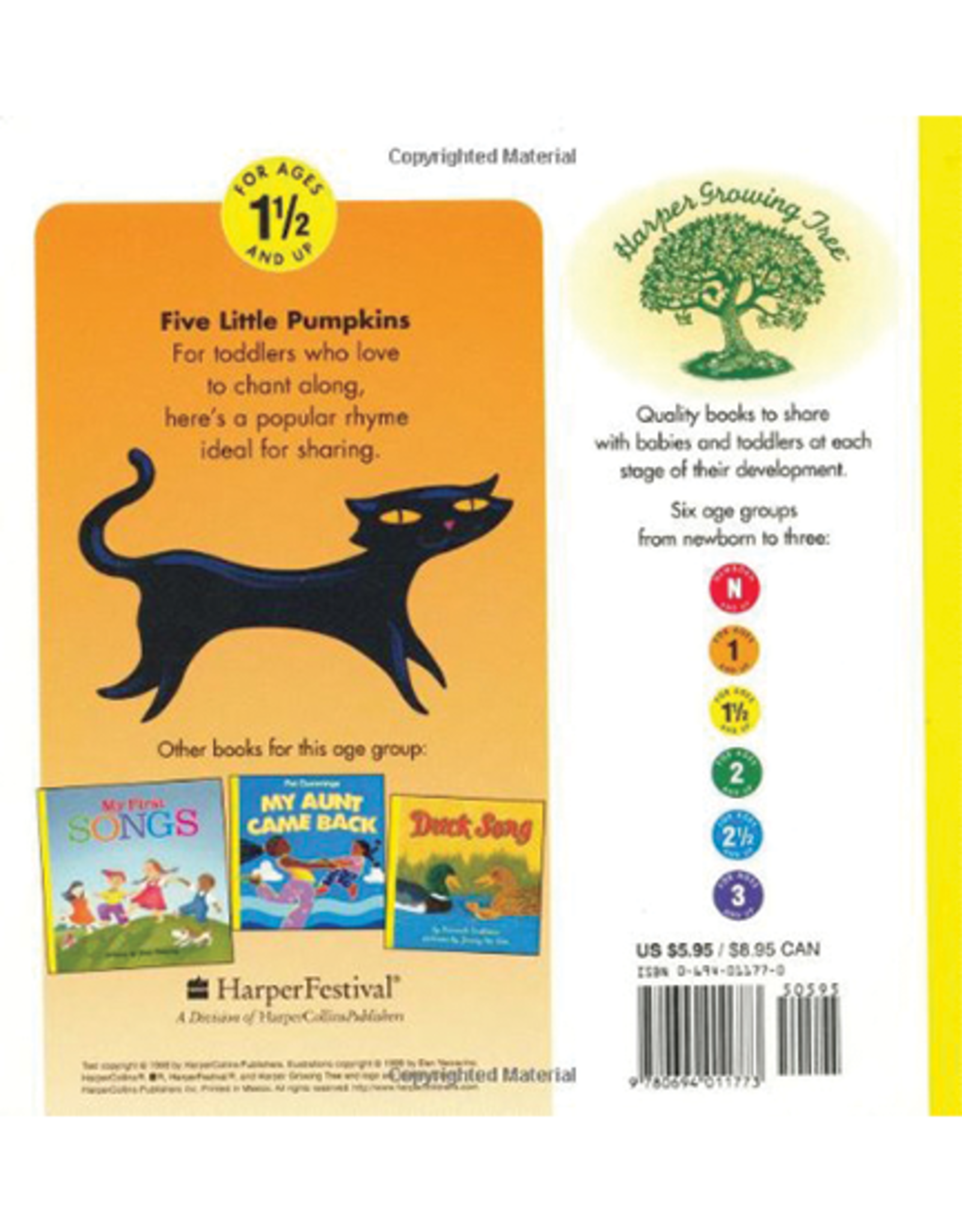Five Little Pumpkins Board Book