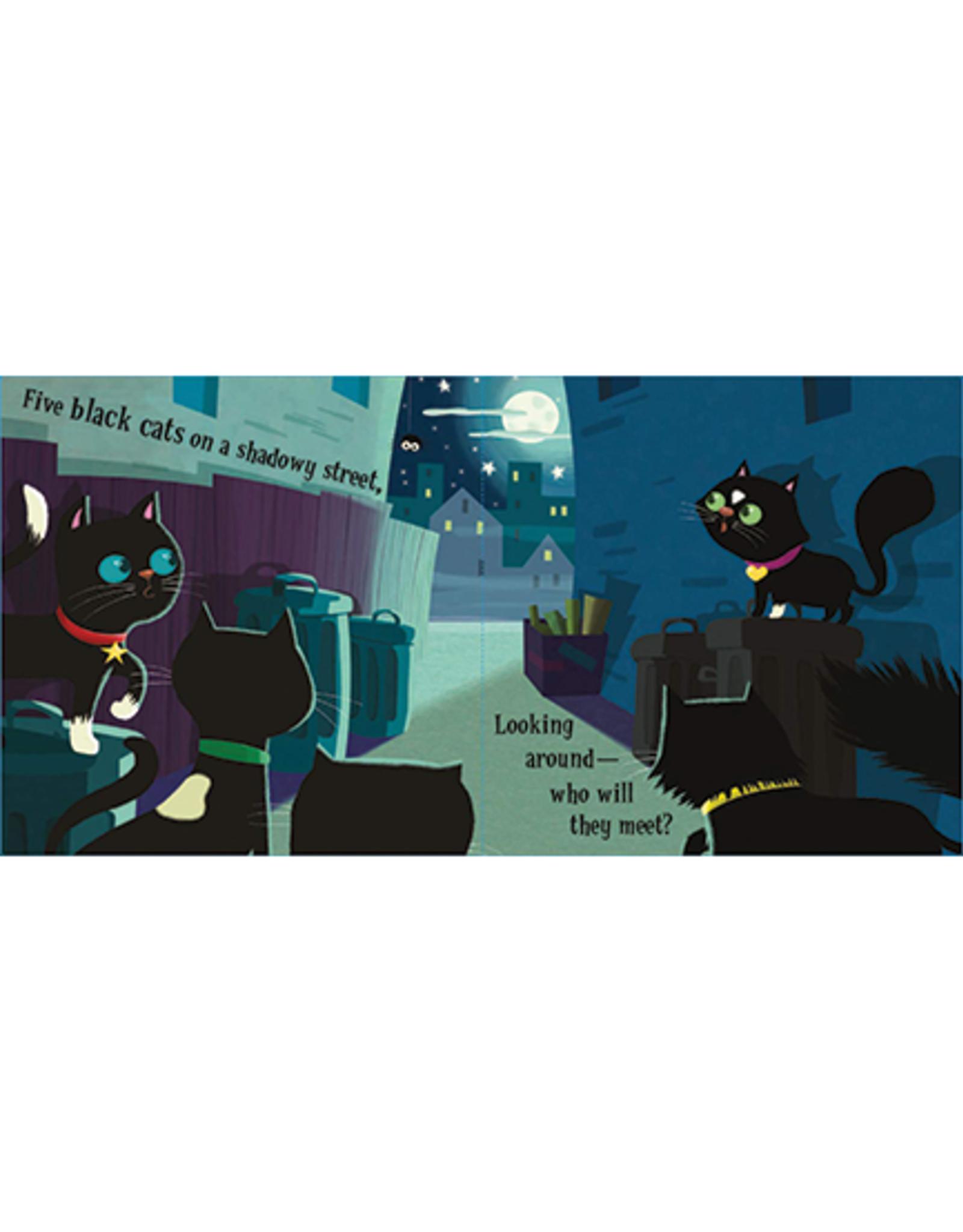 Five Black Cats Board Book