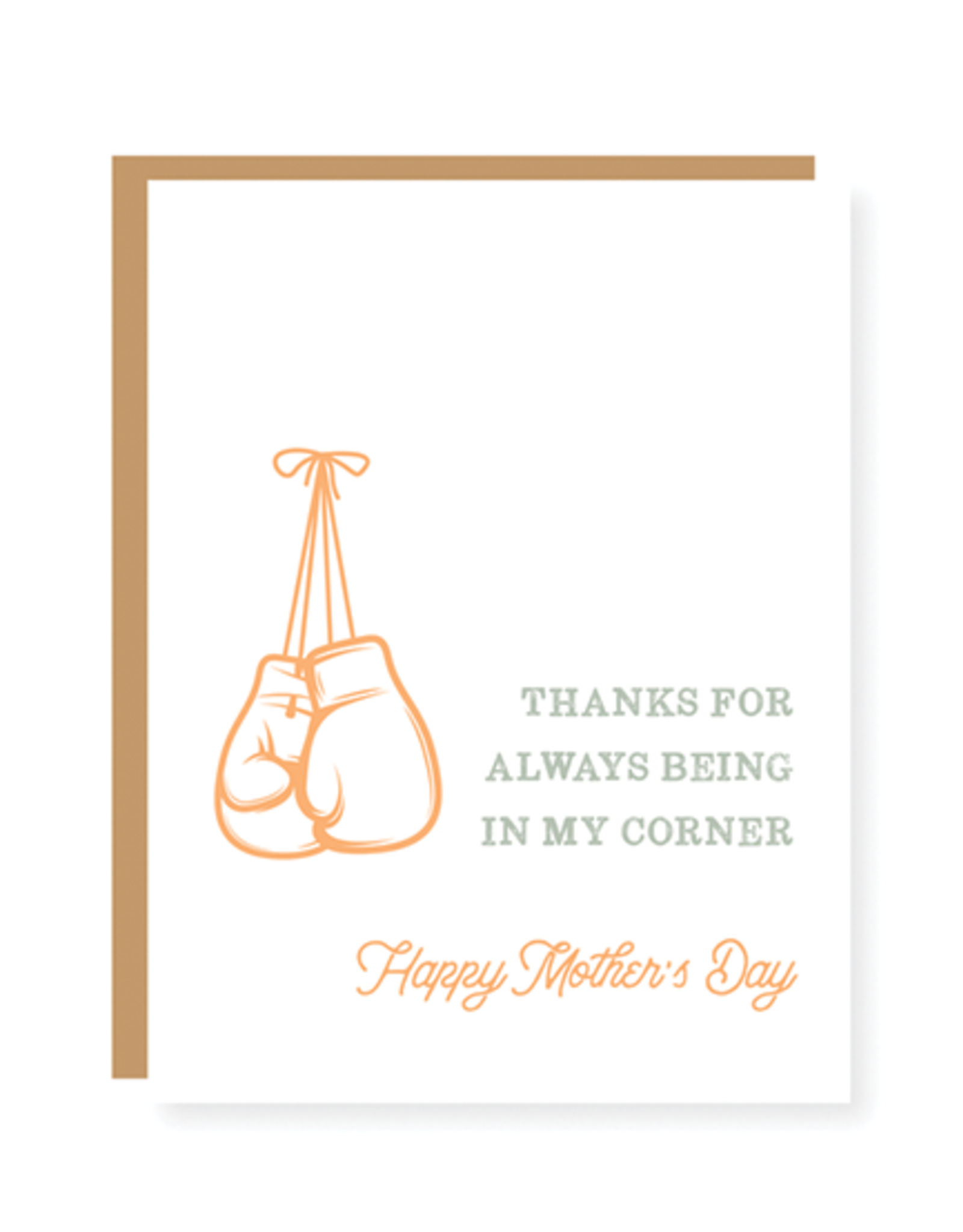 """""""Thanks for Always being in my Corner"""" Mother's Day Card"""