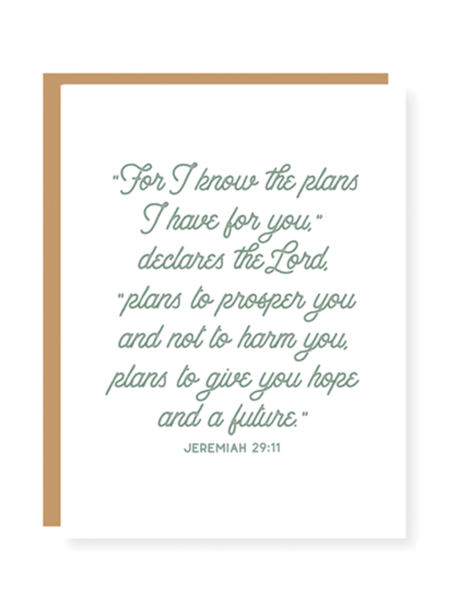 """""""For I know the plans I have for you"""" Card"""