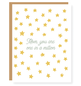 """""""Mom, you are one in a million."""" Mother's Day Card"""