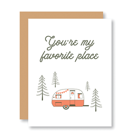 """""""You're my favorite place"""" Card"""