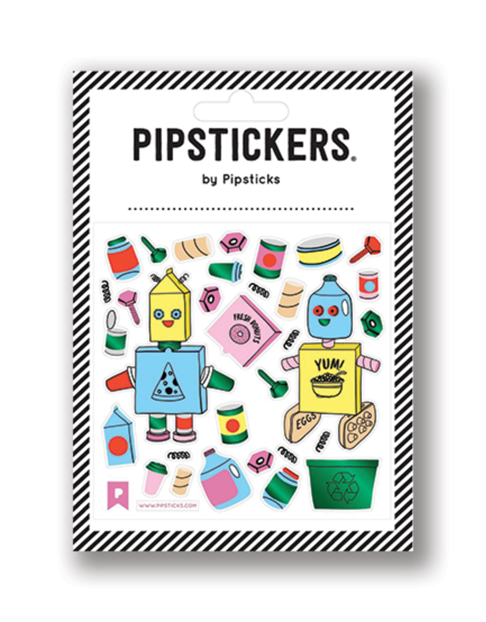 Pipsticks Recycled Robot Stickers