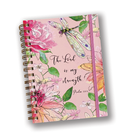 Pink Floral Journal with Psalm 118:14