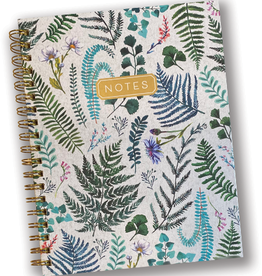 """Notes"" Fern & Floral Spiral Journal"