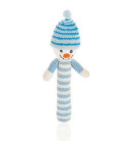 Pebble Snowman Rattle