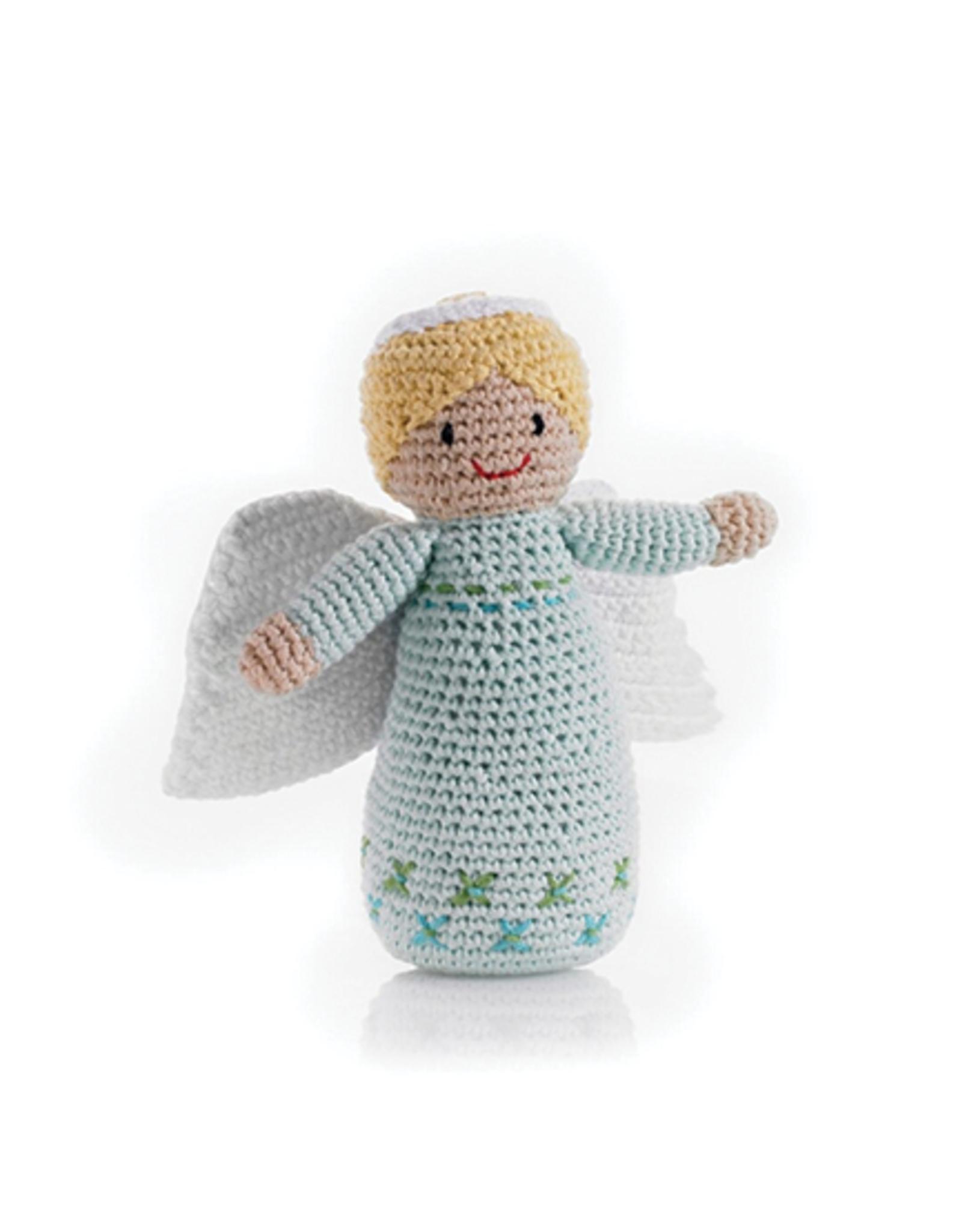 Pebble Angel Rattle - Turquoise