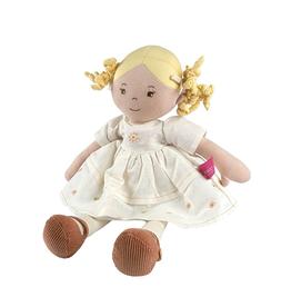 "Tikiri Priscilla Blonde Doll in White Linen Dress, 17"""