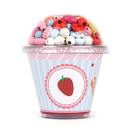Small Foot Small Foot Threading Beads Cupcake - Strawberry