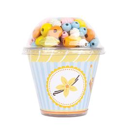 Small Foot Small Foot Threading Beads Cupcake - Vanilla