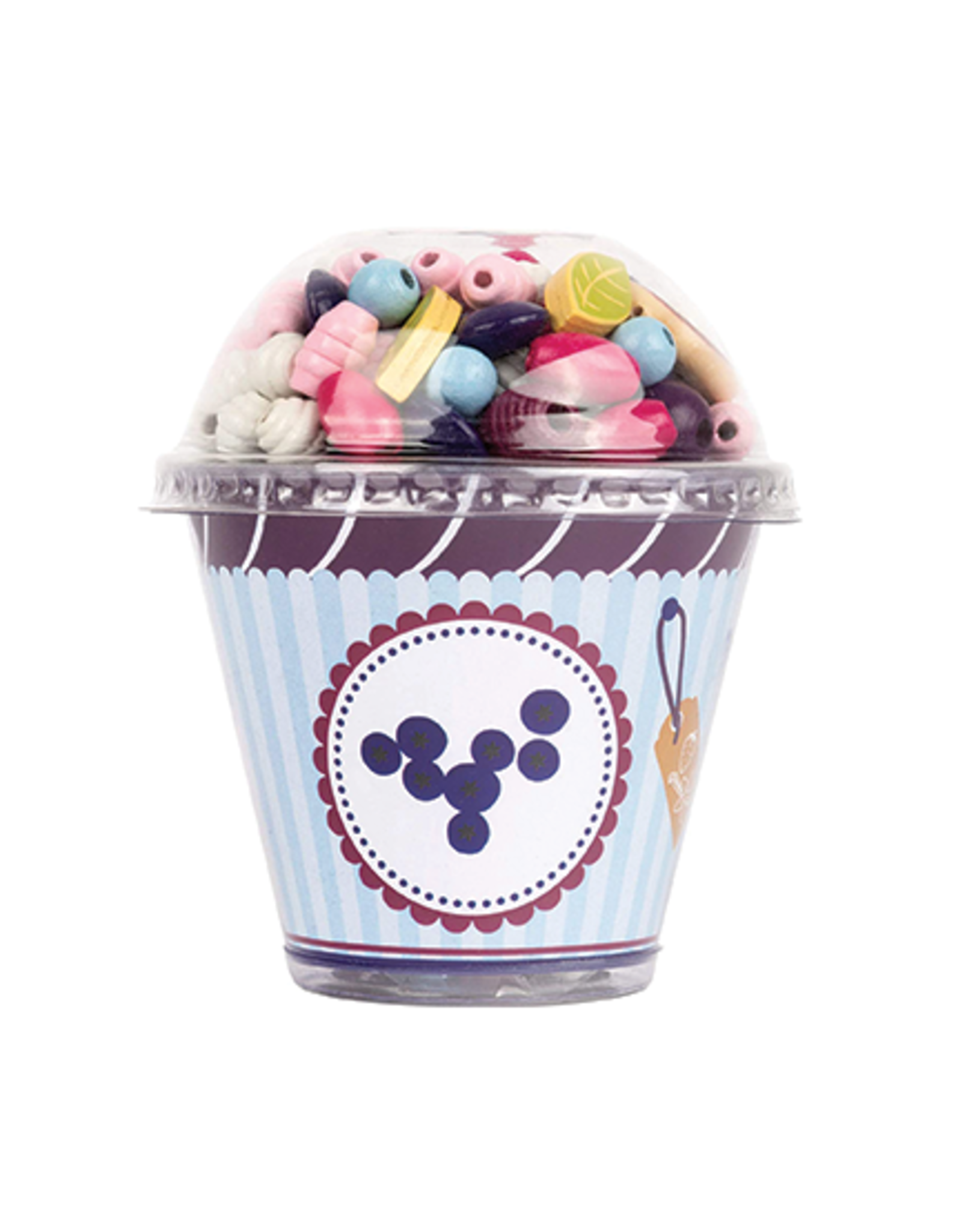 Small Foot Small Foot Threading Beads Cupcake - Blueberry