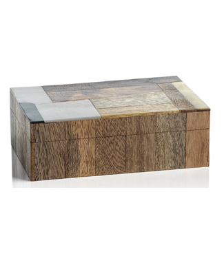 Zodax Cape Town Abstract Inlaid Mango & Sheesham Wood Box