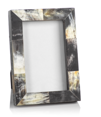 Zodax African Black Horn Inlaid Photo Frame (4x6)