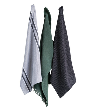 Creative Co-Op Set of 3 Cotton Tea Towels