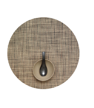 Bark Round Basketweave Tablemat