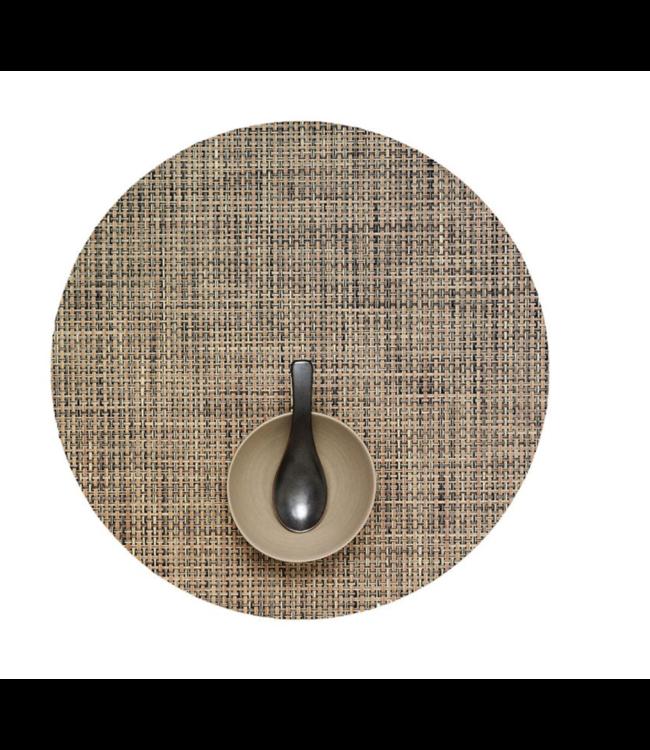 Round Basketweave Tablemat - Bark