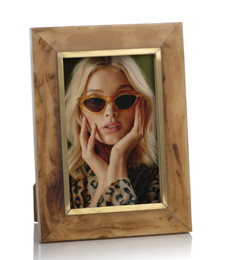 Zodax Horn Inlaid Photo Frame W/Brass Accent - 4x6