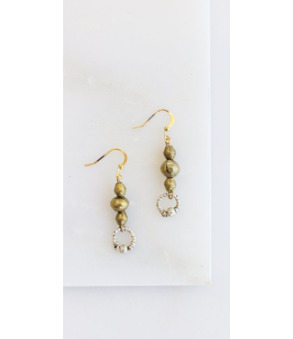 Petite Silver Circle Earrings