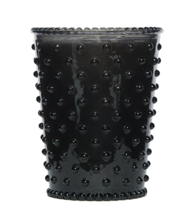 Midnight Hobnail Glass Candle