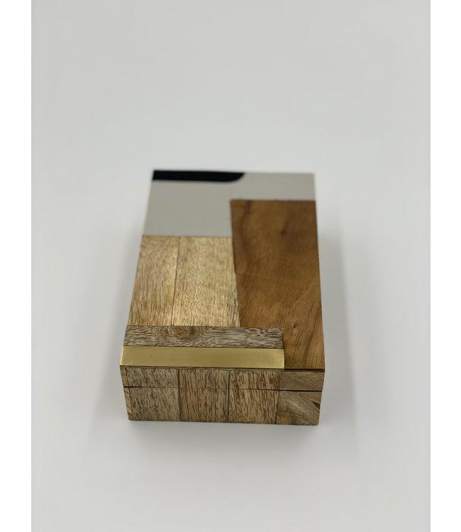 Cape Town Abstract Inlaid Mango & Sheesham Wood Box