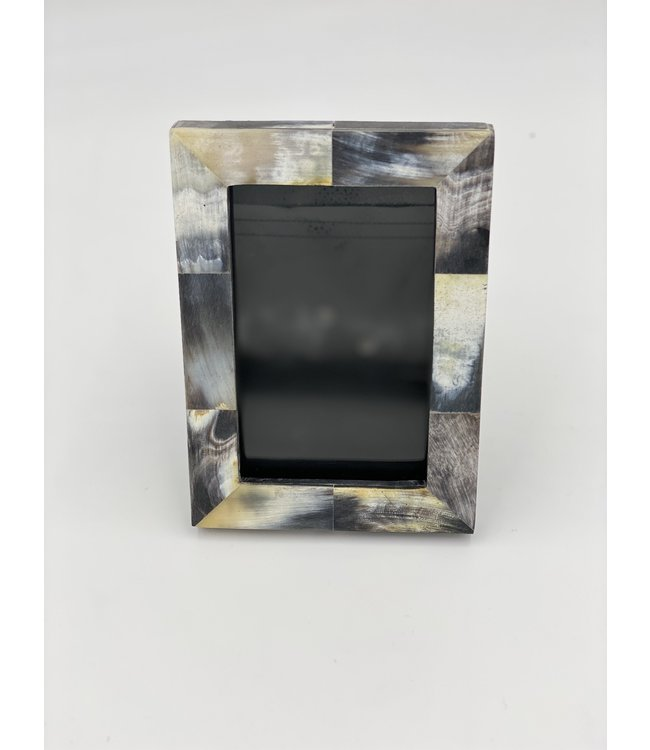 African Black Horn Inlaid Photo Frame (4x6)