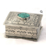 J. Alexander Small Stamped Box w/ Turquoise