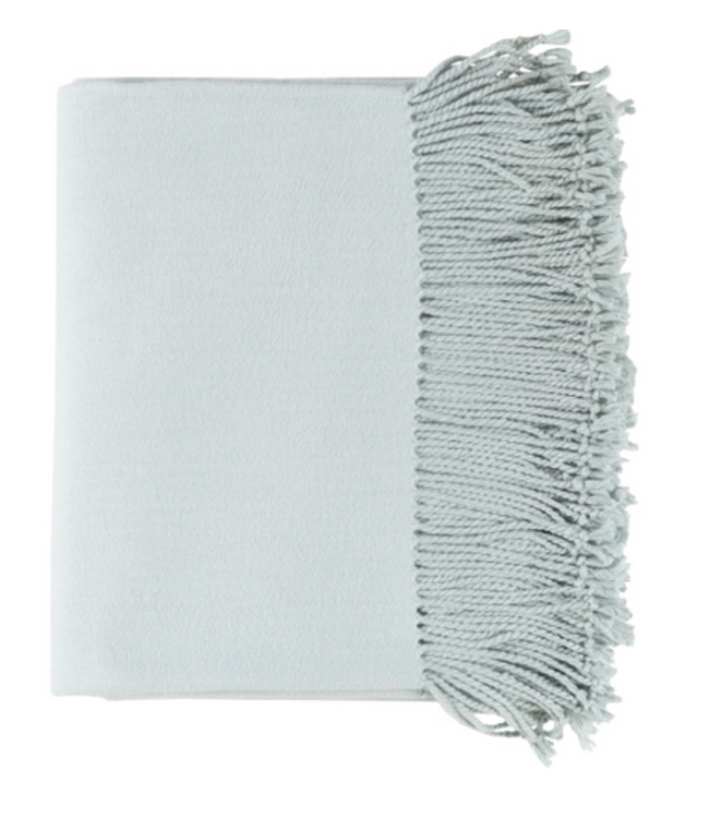 Chantel Woven Silk Throw - Ice Blue