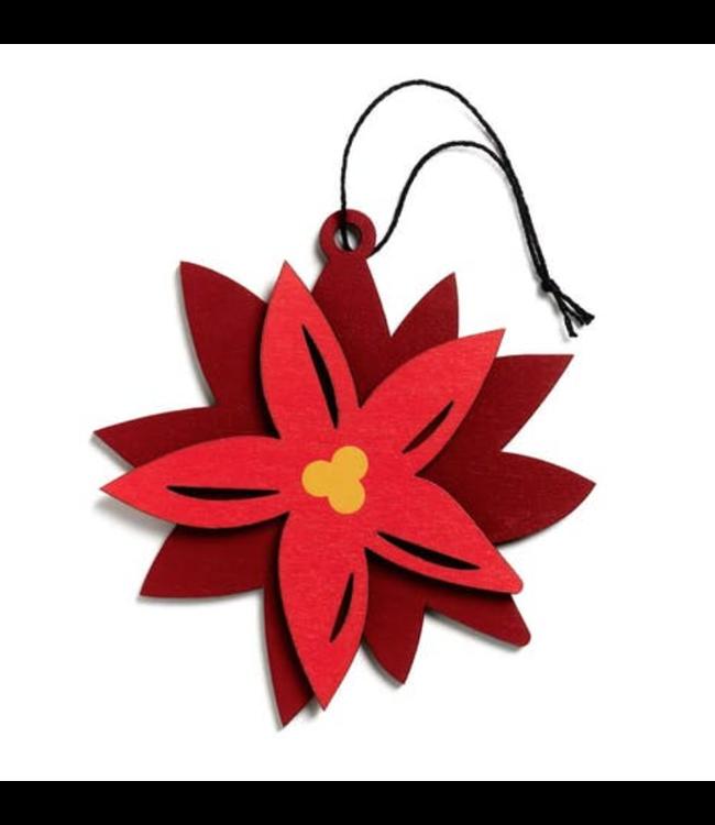 Hollyjolly Ornament - Poinsettia